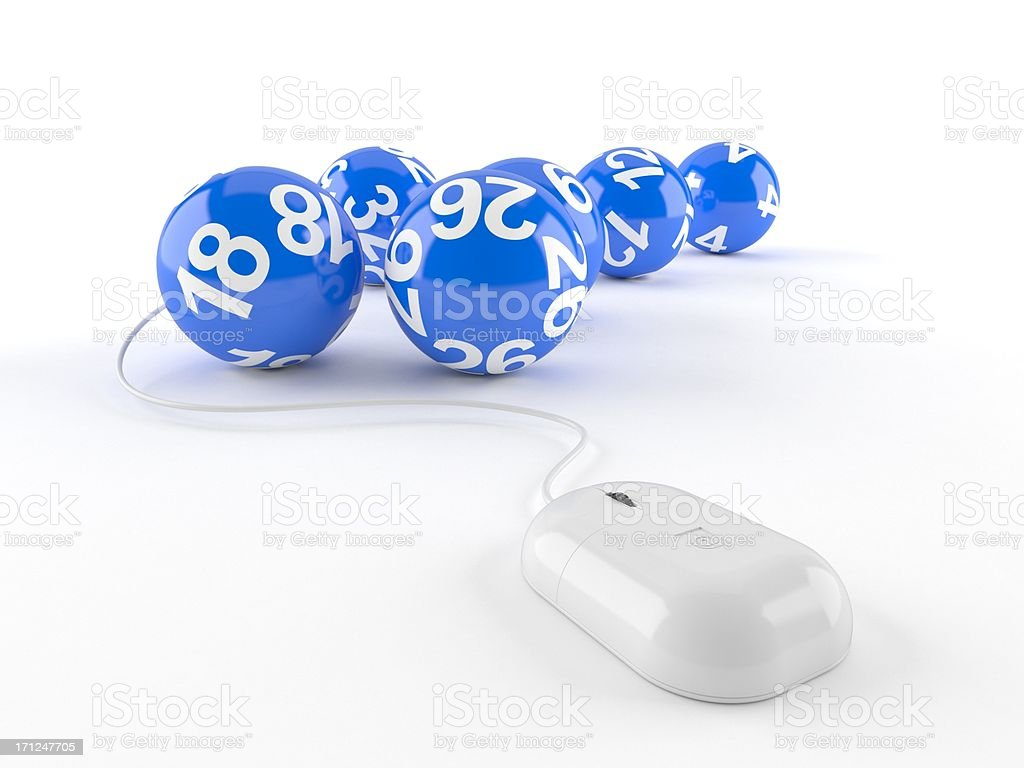 Online lottery stock photo