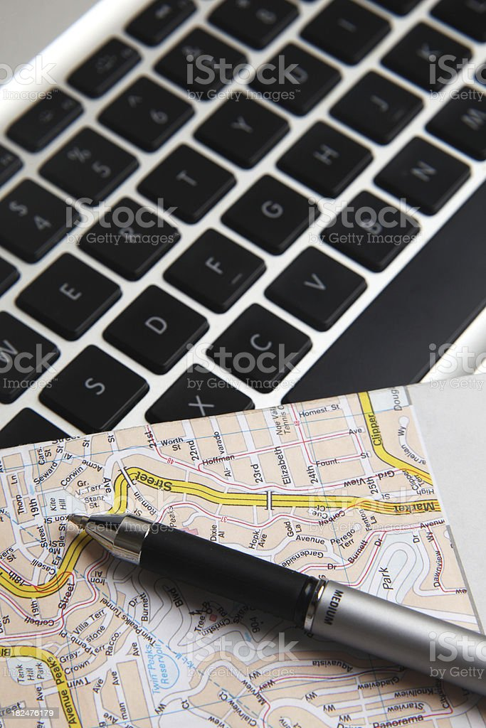 Online Maps royalty-free stock photo