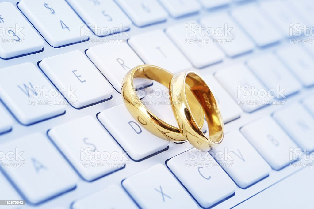 Online Marriages stock photo