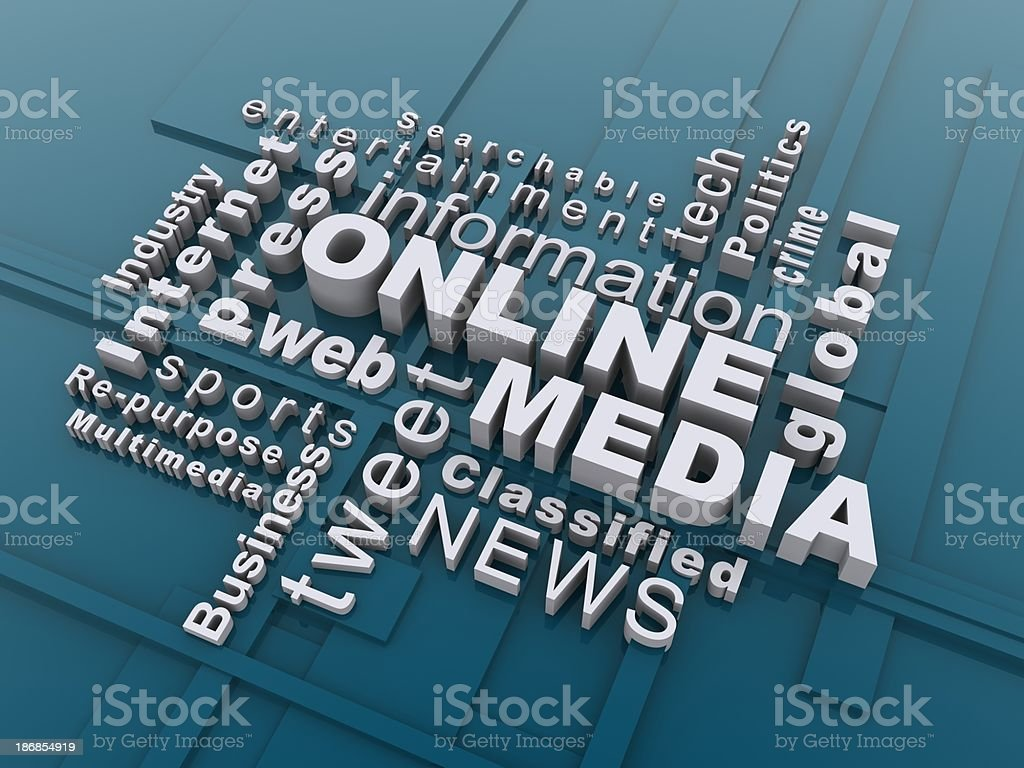 online media stock photo