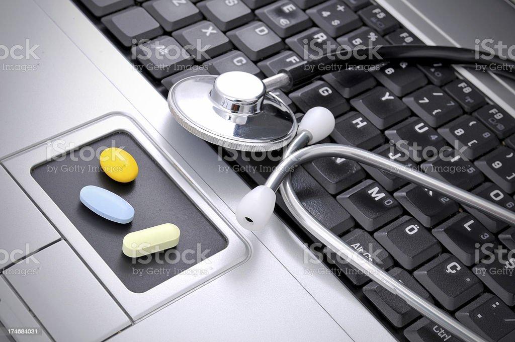 online medicine royalty-free stock photo