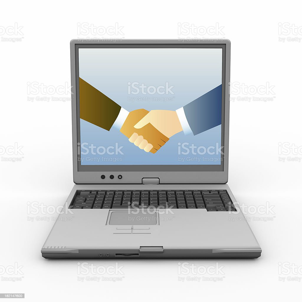Online Meeting royalty-free stock photo