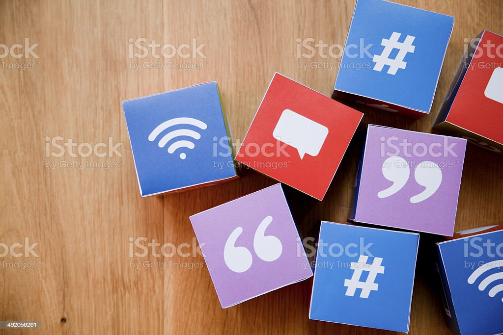 Online messaging concept stock photo