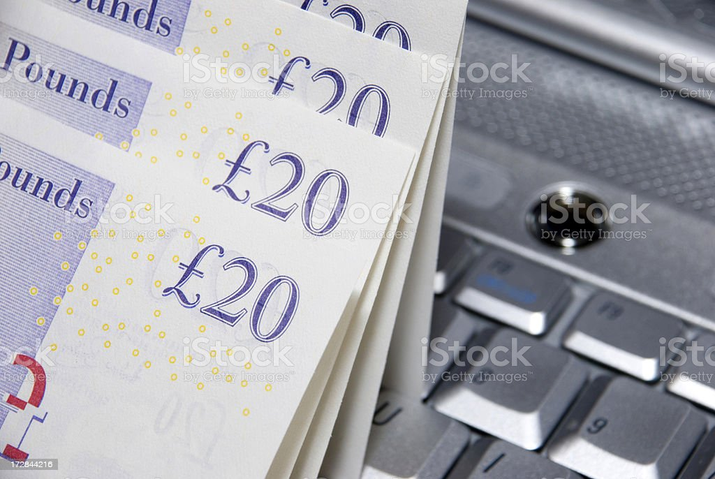 Online money royalty-free stock photo
