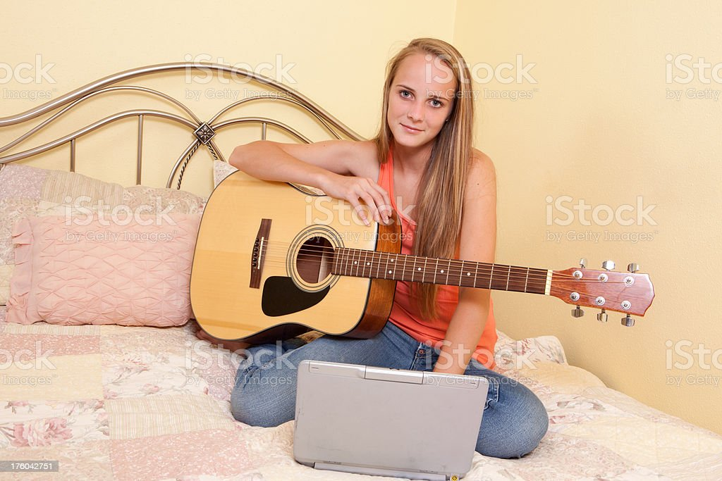 Online Music Class stock photo