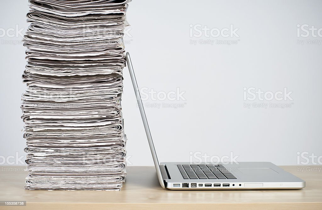 online news concept stock photo