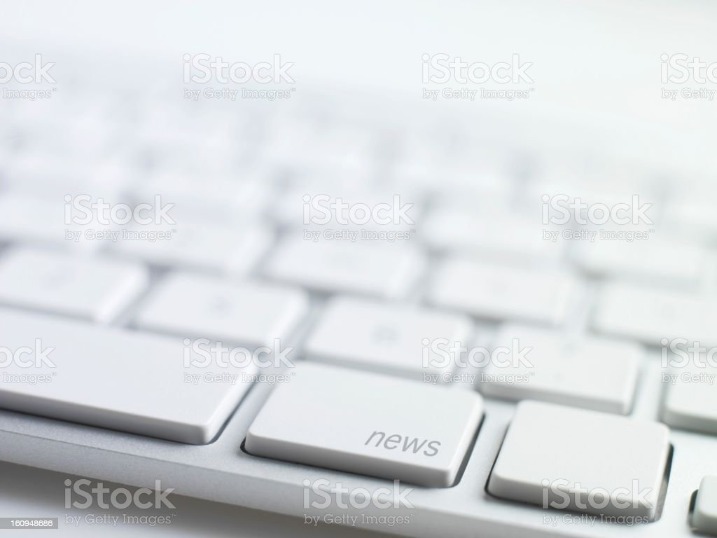 online news,keyboard message royalty-free stock photo