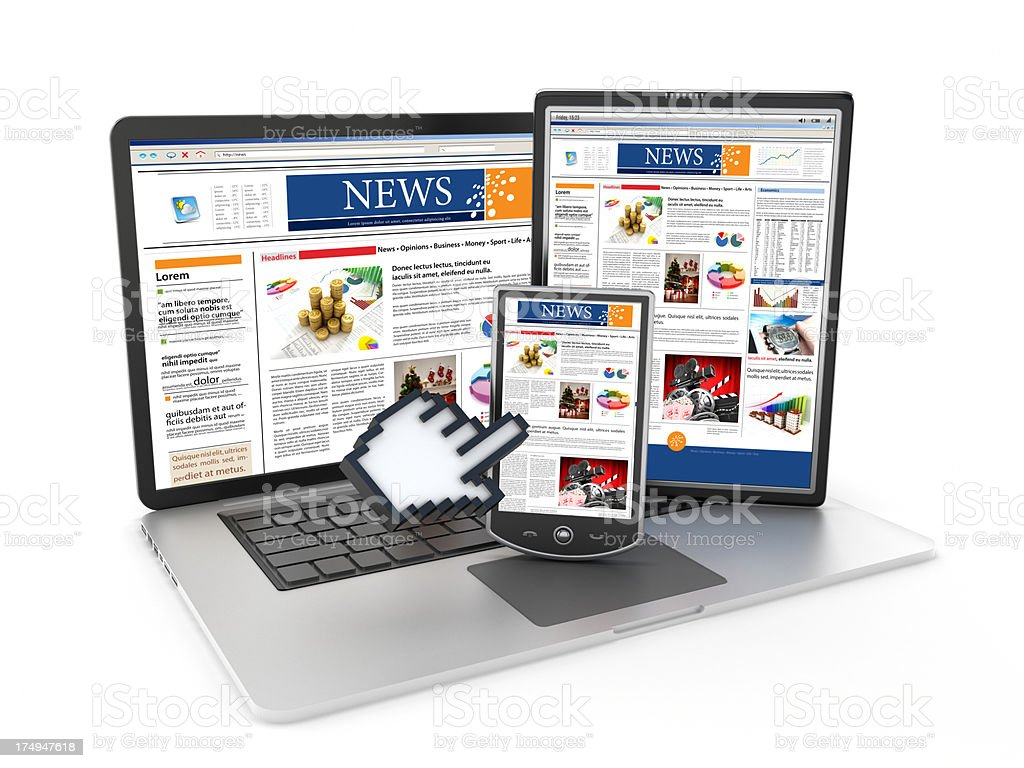 Online newspaper royalty-free stock photo