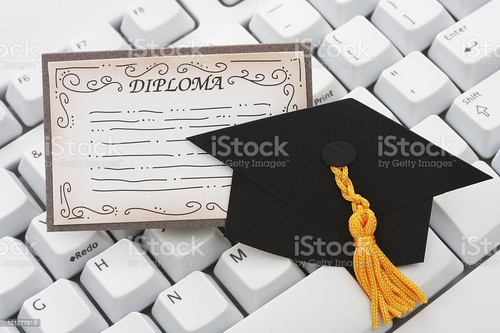 Online or internet education royalty-free stock photo