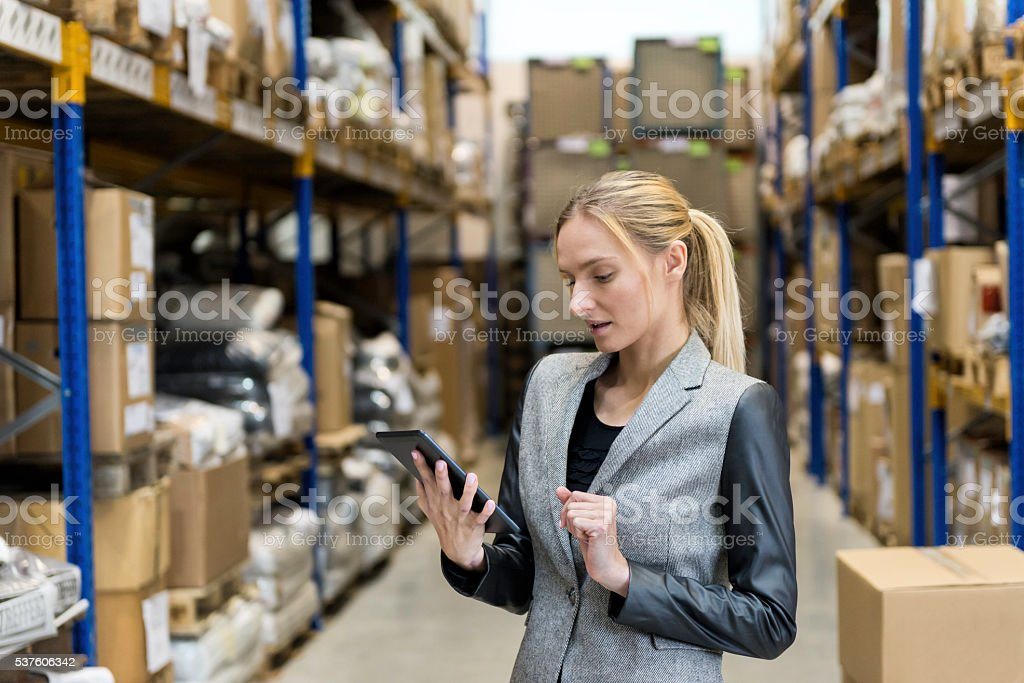 On-line ordering from distribution warehouse stock photo