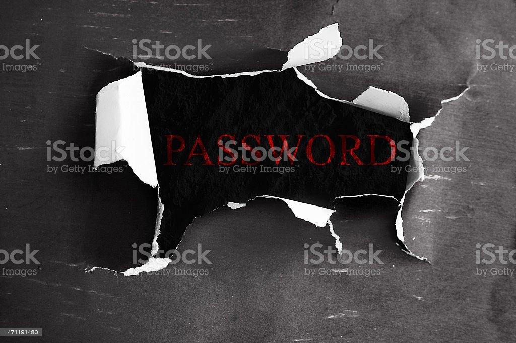 Online password stock photo