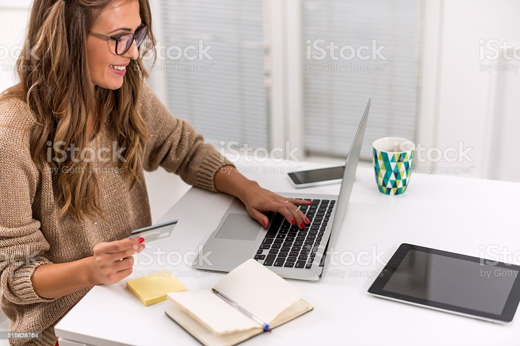 Online payment stock photo