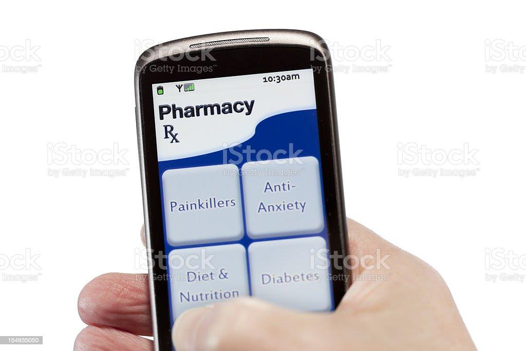 On-Line Pharmacy royalty-free stock photo