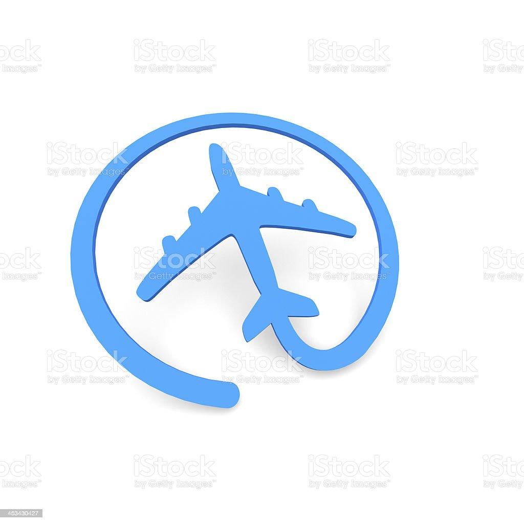 Online plane stock photo
