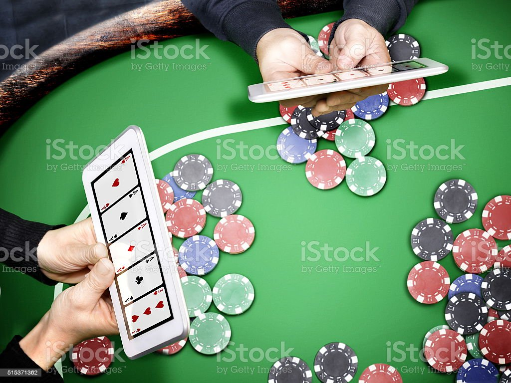 online poker casino stock photo