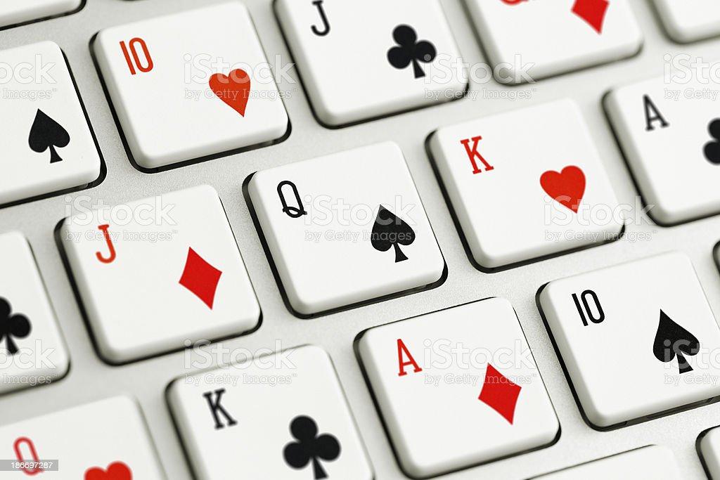 Online Poker Computer keys royalty-free stock photo