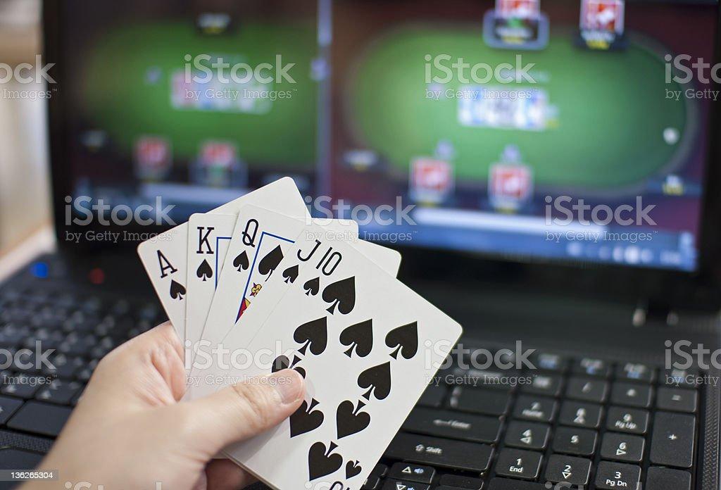 Online poker royalty-free stock photo