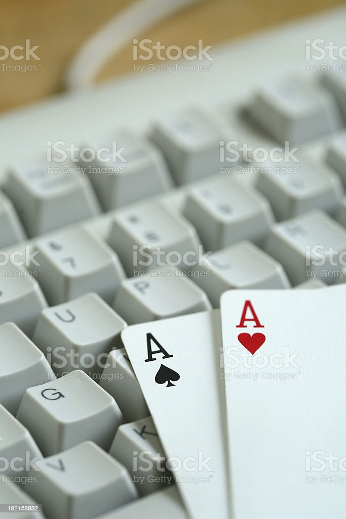 Online Poker royalty-free stock photo