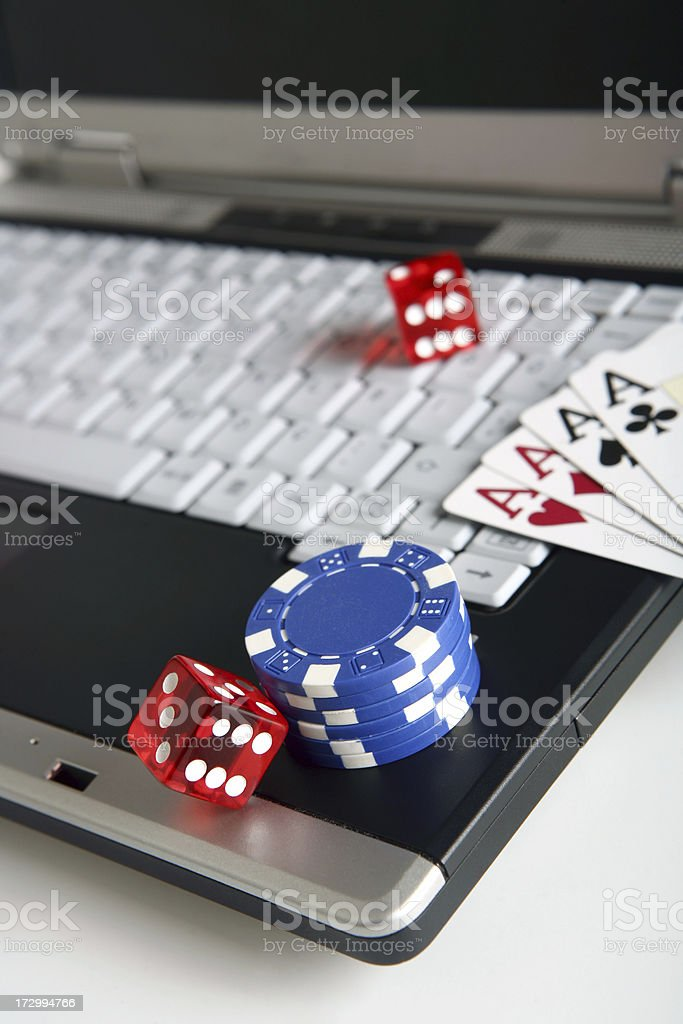 online poker series royalty-free stock photo