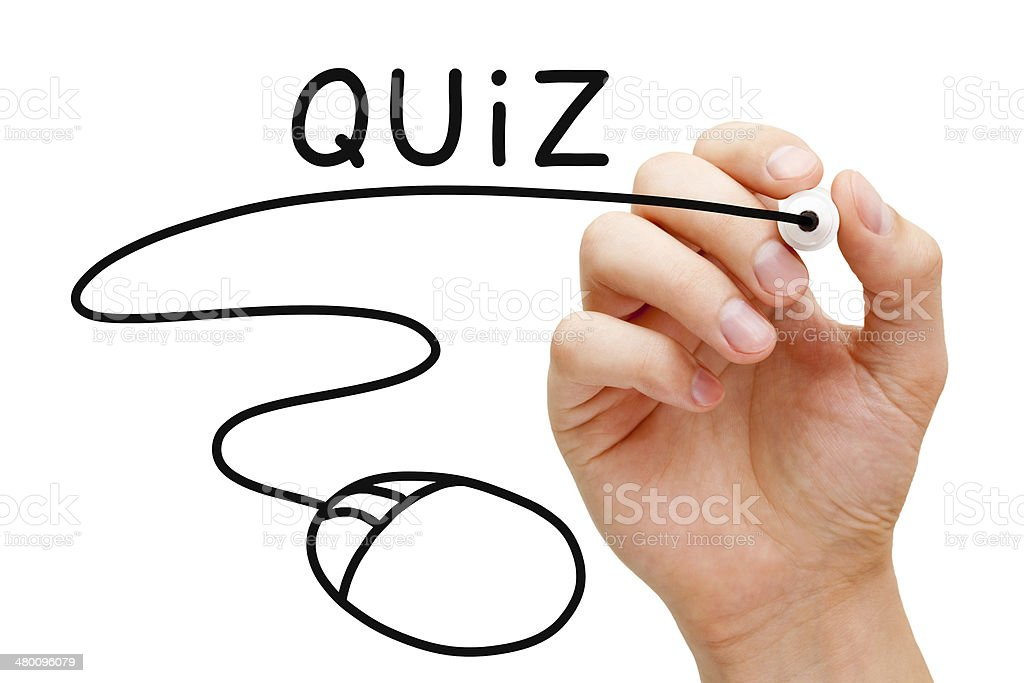 Online Quiz Concept stock photo