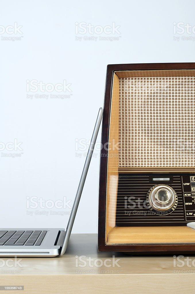 online radio concept stock photo
