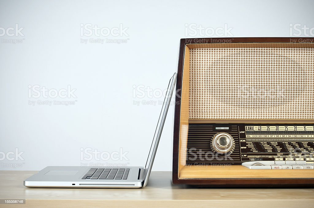 online radio concept stock photo