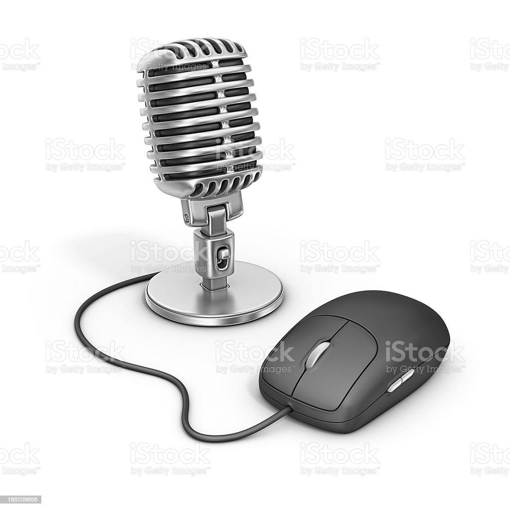 online radio royalty-free stock photo