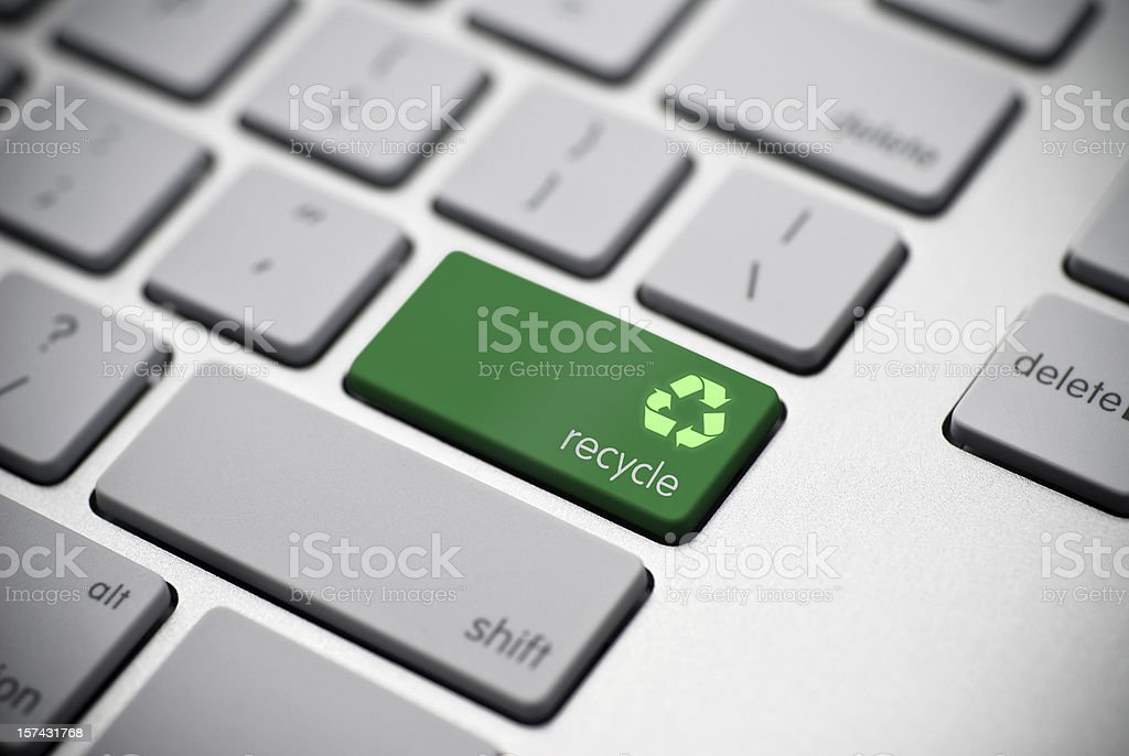 Online Recycle Concept royalty-free stock photo