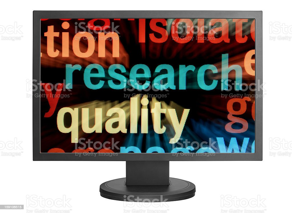 Online research royalty-free stock photo