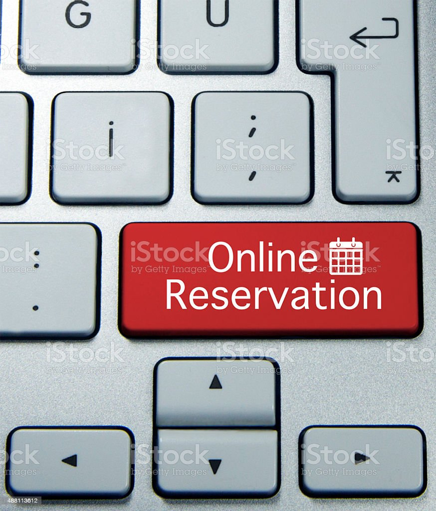 online reservation stock photo
