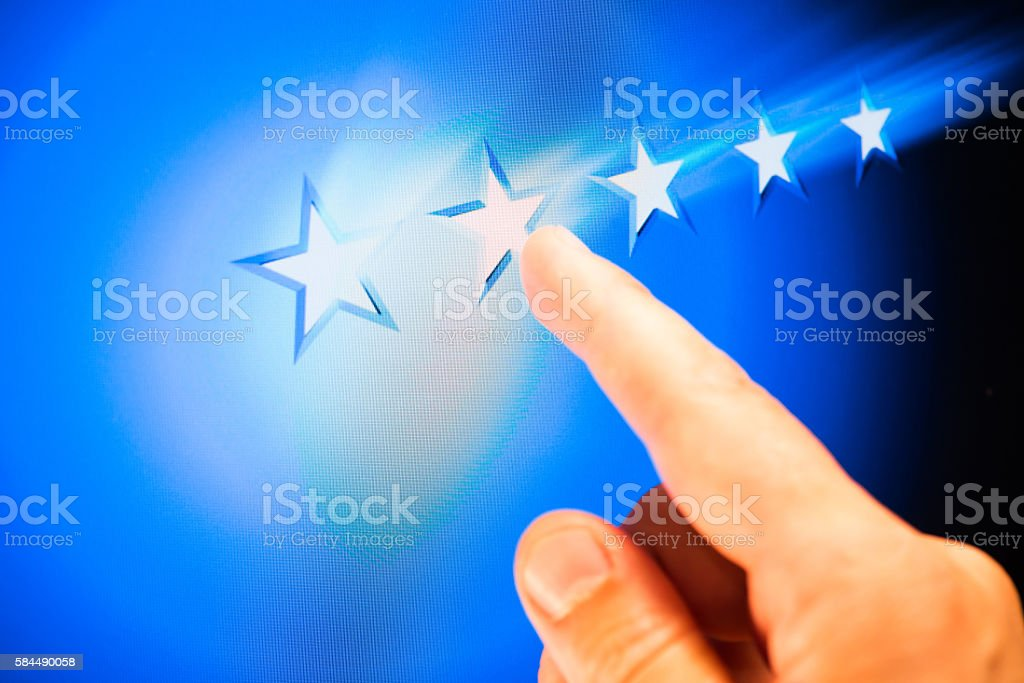 online review stock photo