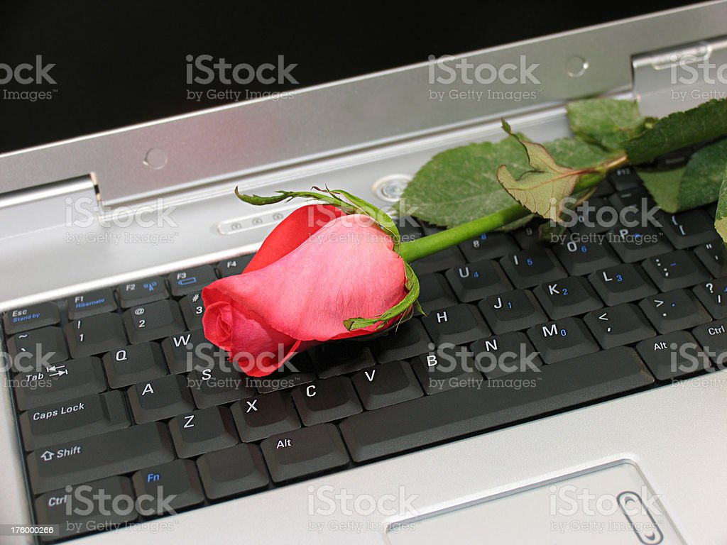 Online Romance royalty-free stock photo