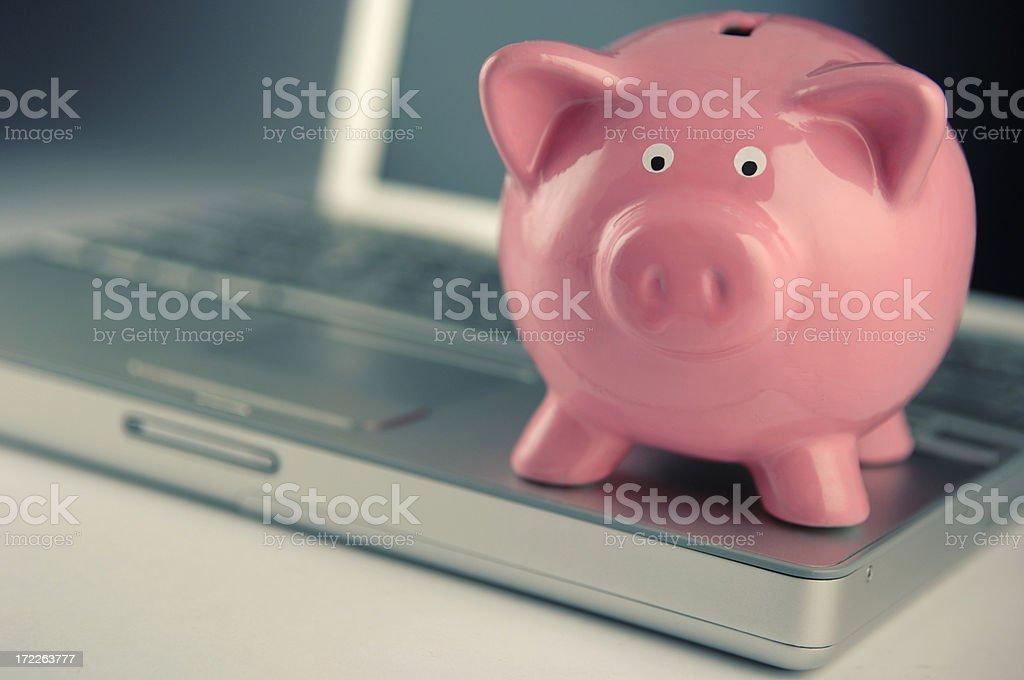 online savings royalty-free stock photo