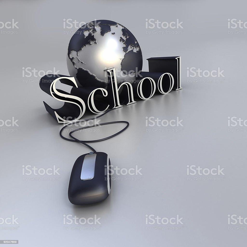 Online school royalty-free stock photo