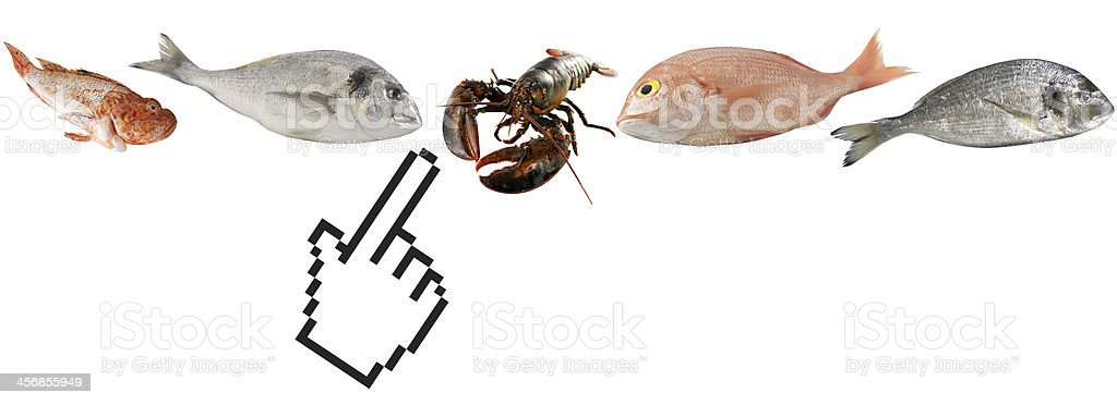 online seafood shopping royalty-free stock photo