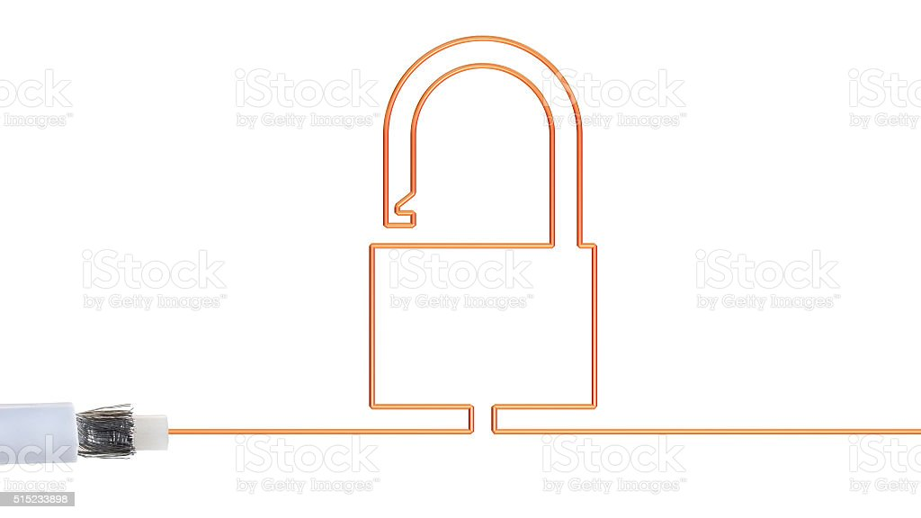 Online security and safety. stock photo
