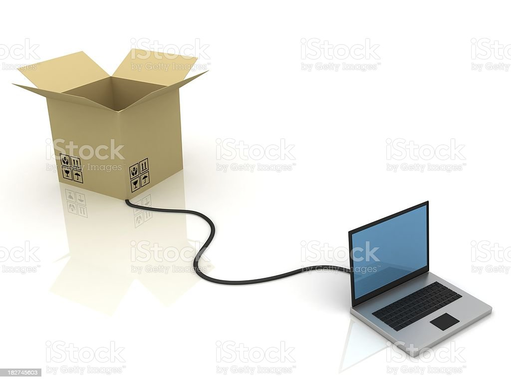 Online Shipping royalty-free stock photo