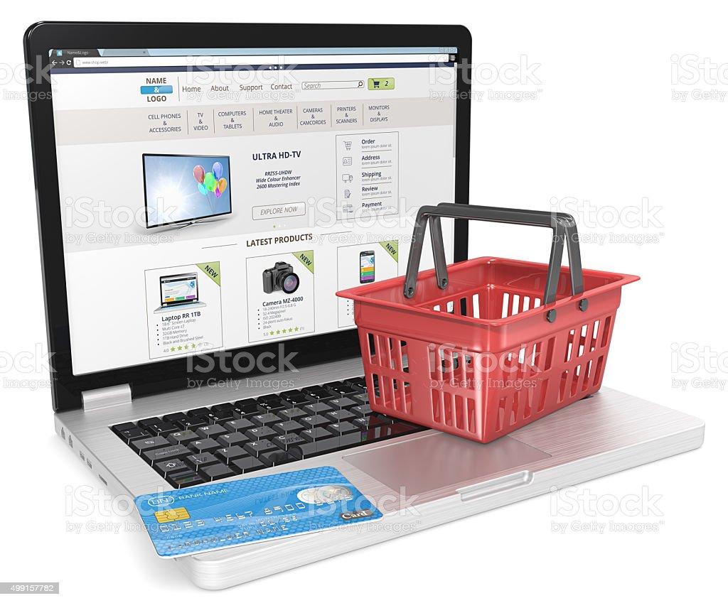 Online Shop. stock photo