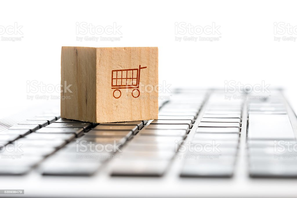 Online shopping and e-commerce concept stock photo