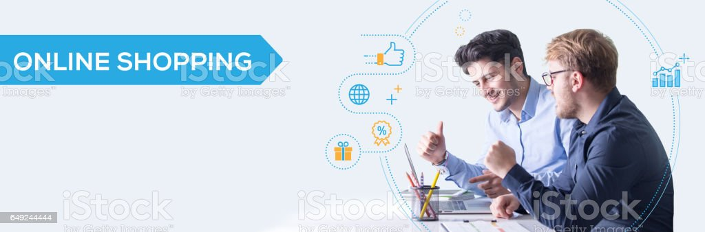 Online Shopping Banner Concept stock photo