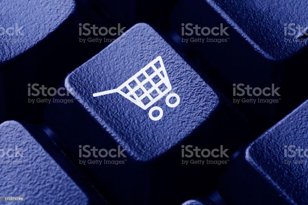 Online Shopping Computer Key royalty-free stock photo