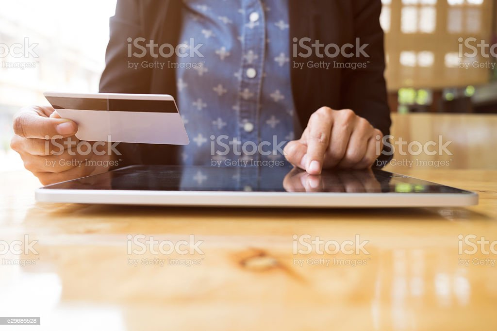 Online shopping concept. stock photo