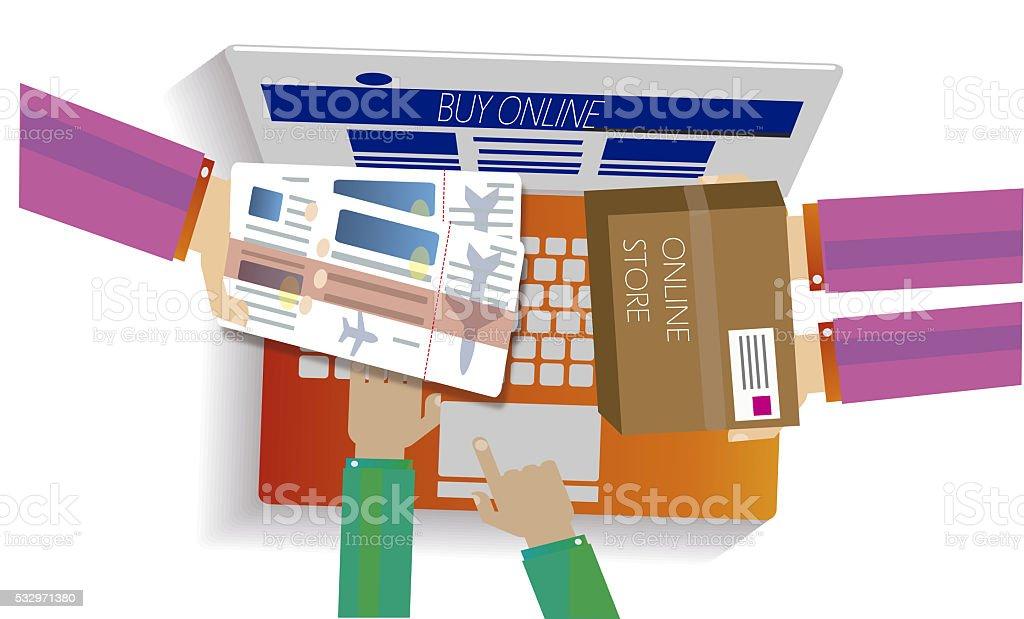 Online shopping concept. Web STORE JPG illustration stock photo