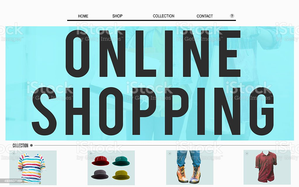 Online Shopping E-business Browsing Internet Concept stock photo