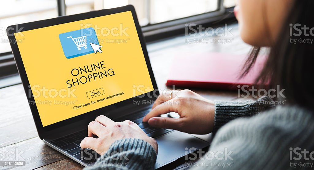 Online Shopping E-business Digital Technology Concept stock photo