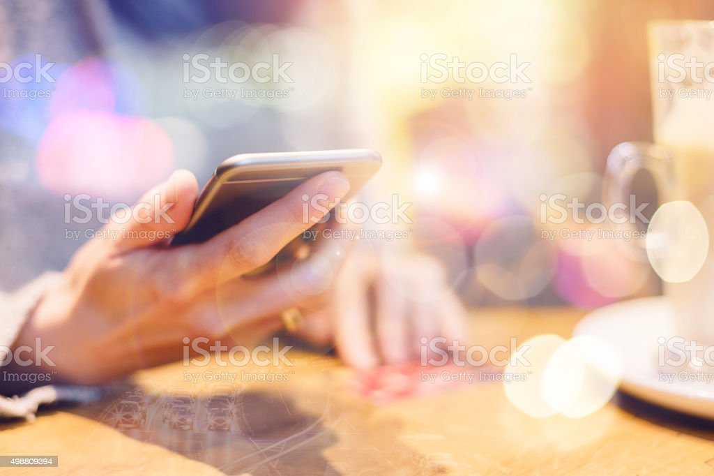Online shopping for Christmas with credit card stock photo