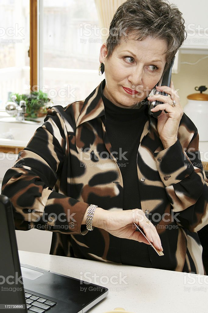 Online Shopping Frustration royalty-free stock photo