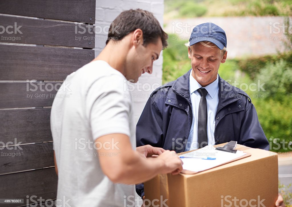 Online shopping makes life so easy! stock photo