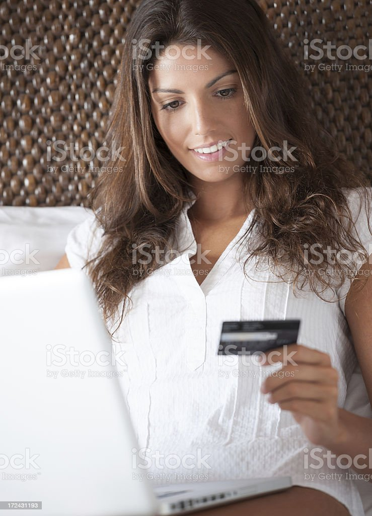 Online Shopping mit Credit Card royalty-free stock photo
