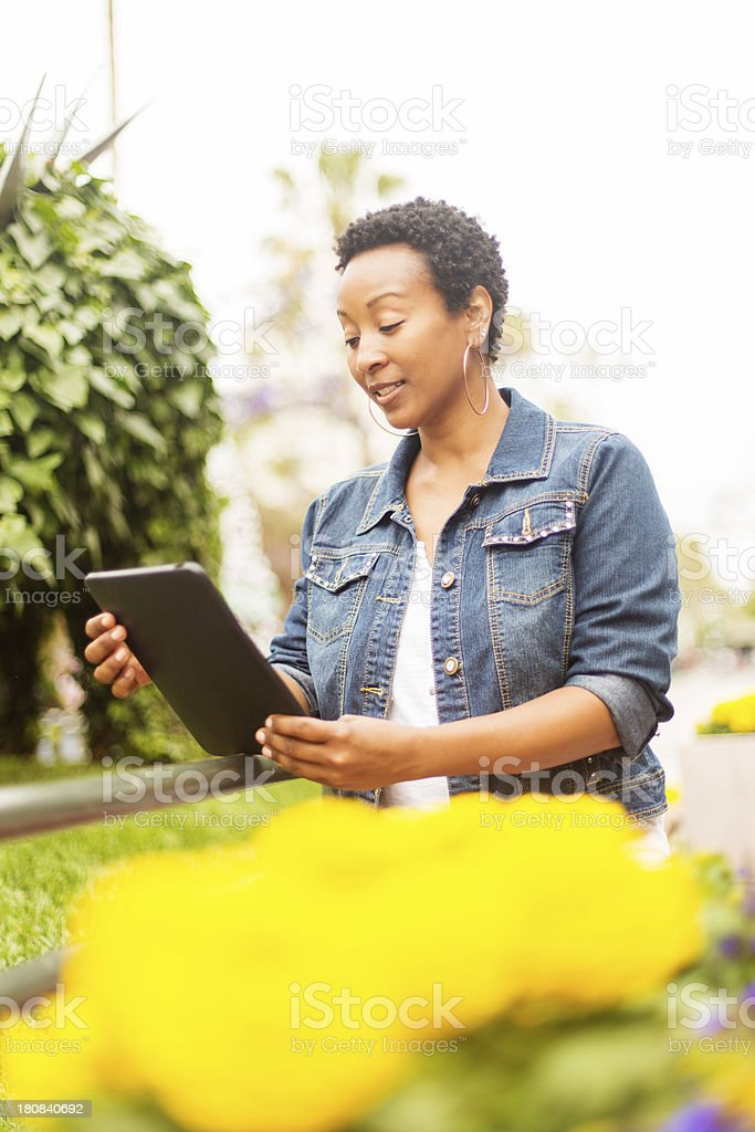 Online Shopping Outside royalty-free stock photo